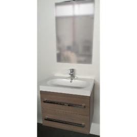 Mobile da Bagno Mobile bagno sospeso da 60 cm con due cassetti softclose e specchio Arredo Bagno Mobili da Bagno