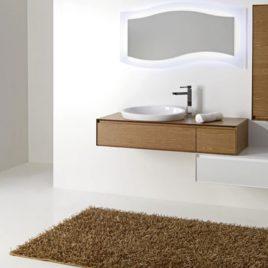 Mobile da Bagno Composizione Con Lavabo ad Incasso in Ceramica Arredo Bagno Mobili da Bagno