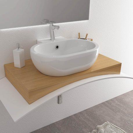 SALLY lavabo sospeso o da appoggio 60×51